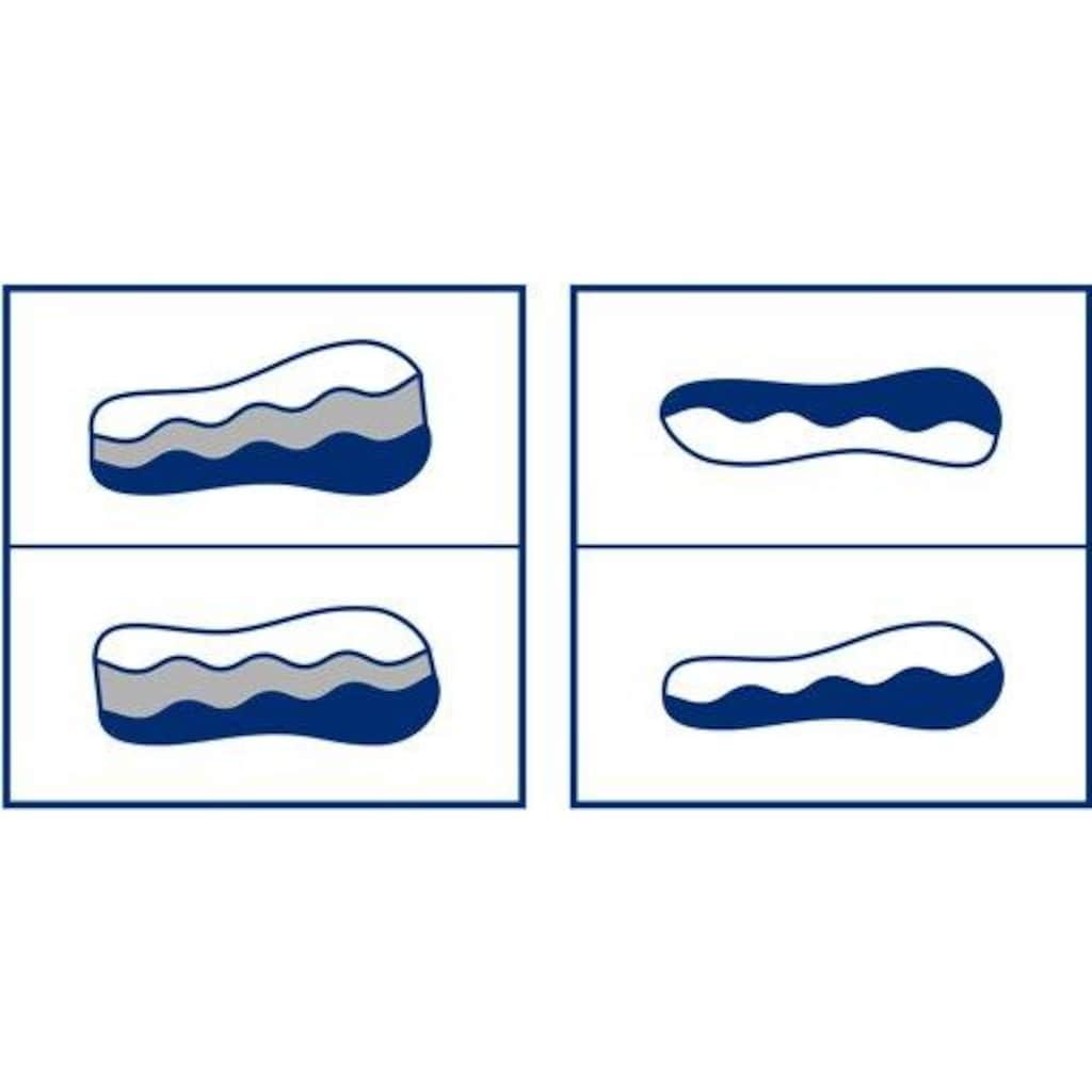 billerbeck Nackenstützkissen »Novum«, Füllung: Superweiche Seite mit 2 verschieden hohen Wellen aus offenporigem, viscoelastischem Schaum, der keinen Gegendruck erzeugt.          Stützkräftige Seite mit 2 verschieden hohen Wellen aus festem Latex. Herausnehmbare, keilförmige Schaumstoff-Einlage zur individuellen Anpassung der Höhe, Bezug: 100% Polyester, weiches, leichtes Microfasergewebe, versteppt mit 100% Polyester AIRFILL 95, (1 St.)