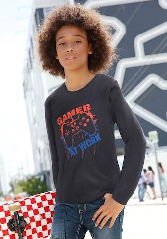 KIDSWORLD Langarmshirt, mit coolem Druck kaufen