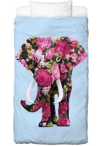 Juniqe Bettwäsche »Floral Elephant«, In vielen weiteren Designs erhältlich kaufen