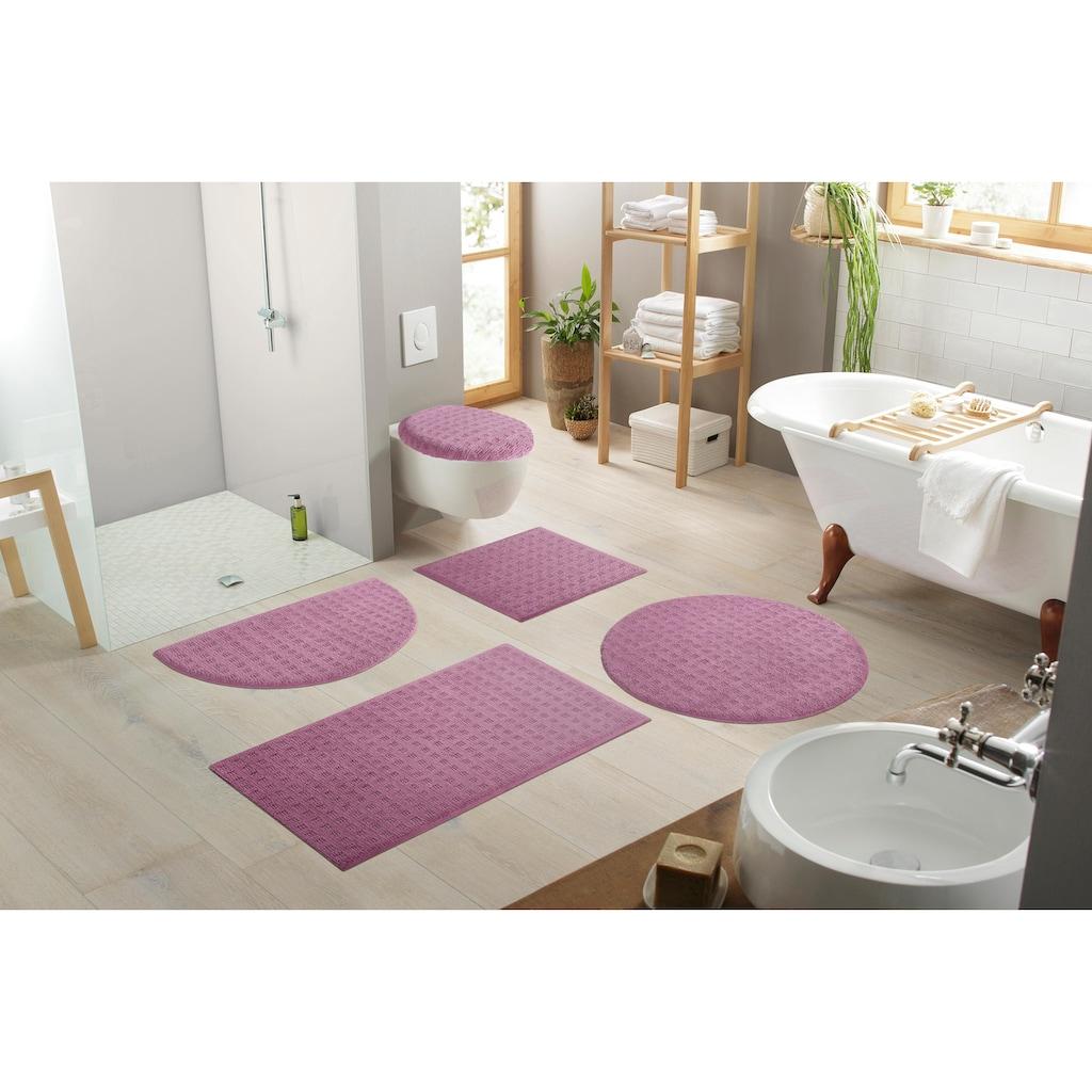 andas Badematte »Refik«, Höhe 8 mm, rutschhemmend beschichtet, schnell trocknend, Pastell