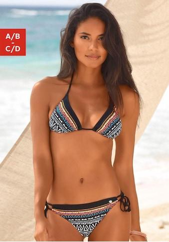 JETTE Triangel-Bikini, mit modischem Streifenprint kaufen