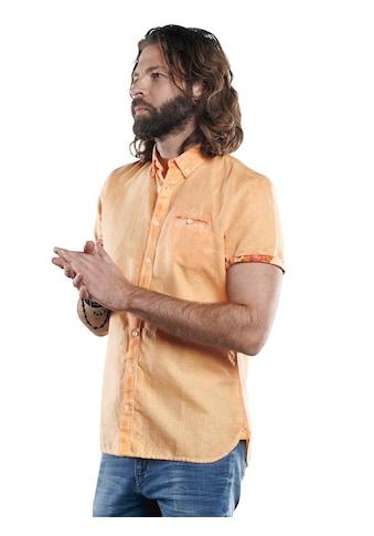 emilio adani Kurzarmhemd mit floralen Kontraststoffdetails kaufen