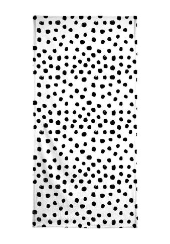 "Handtuch ""Dots Black And White"", Juniqe kaufen"