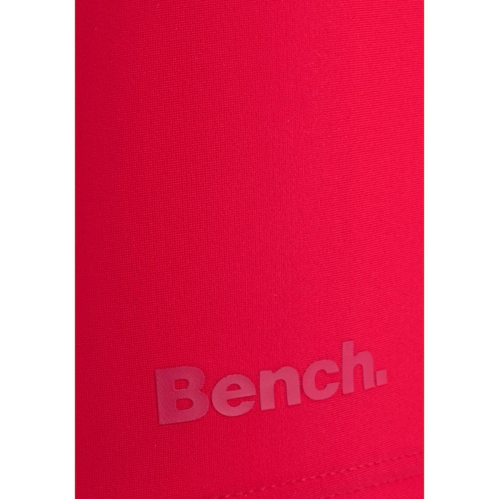 Bench. Boxer-Badehose, mit Logodruck