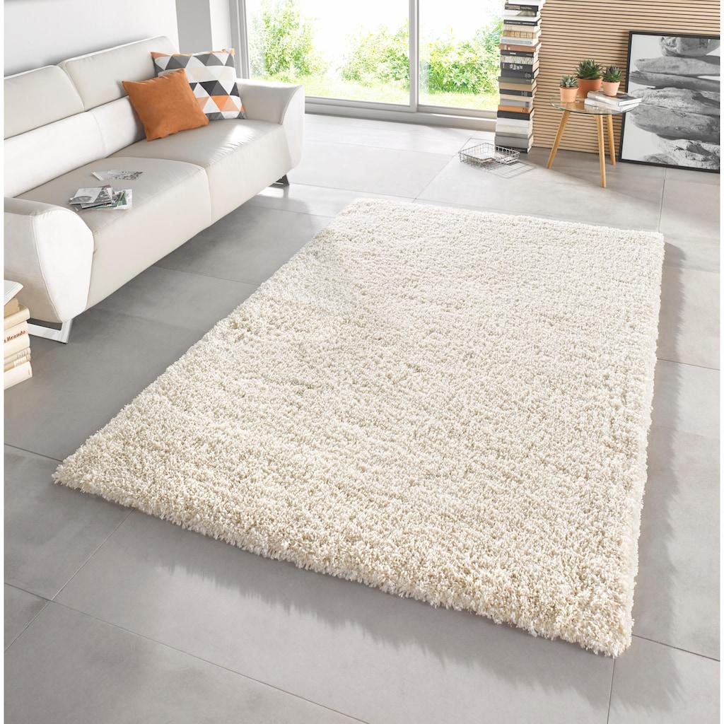MINT RUGS Hochflor-Teppich »Venice«, rechteckig, 45 mm Höhe, melierte Optik, Wohnzimmer