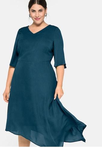 Sheego Abendkleid, mit asymmetrischem Saum kaufen