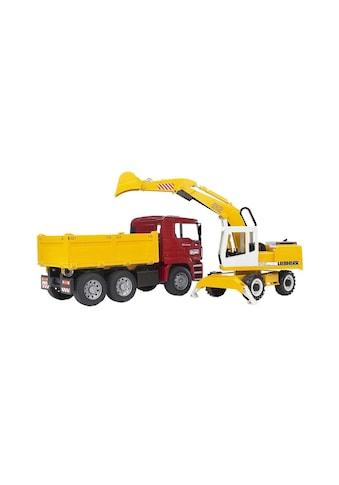 Bruder® Spielzeug-Bagger »Kipplastwagen & Schaufelbagger« kaufen