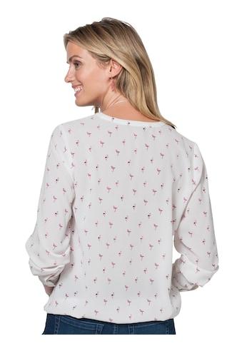 Ambria Bluse bedruckt mit kleinen Flamingos kaufen