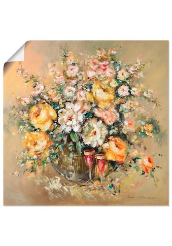 Artland Wandbild »Blumen und Spirituosen«, Blumen, (1 St.), in vielen Grössen & Produktarten -Leinwandbild, Poster, Wandaufkleber / Wandtattoo auch für Badezimmer geeignet kaufen