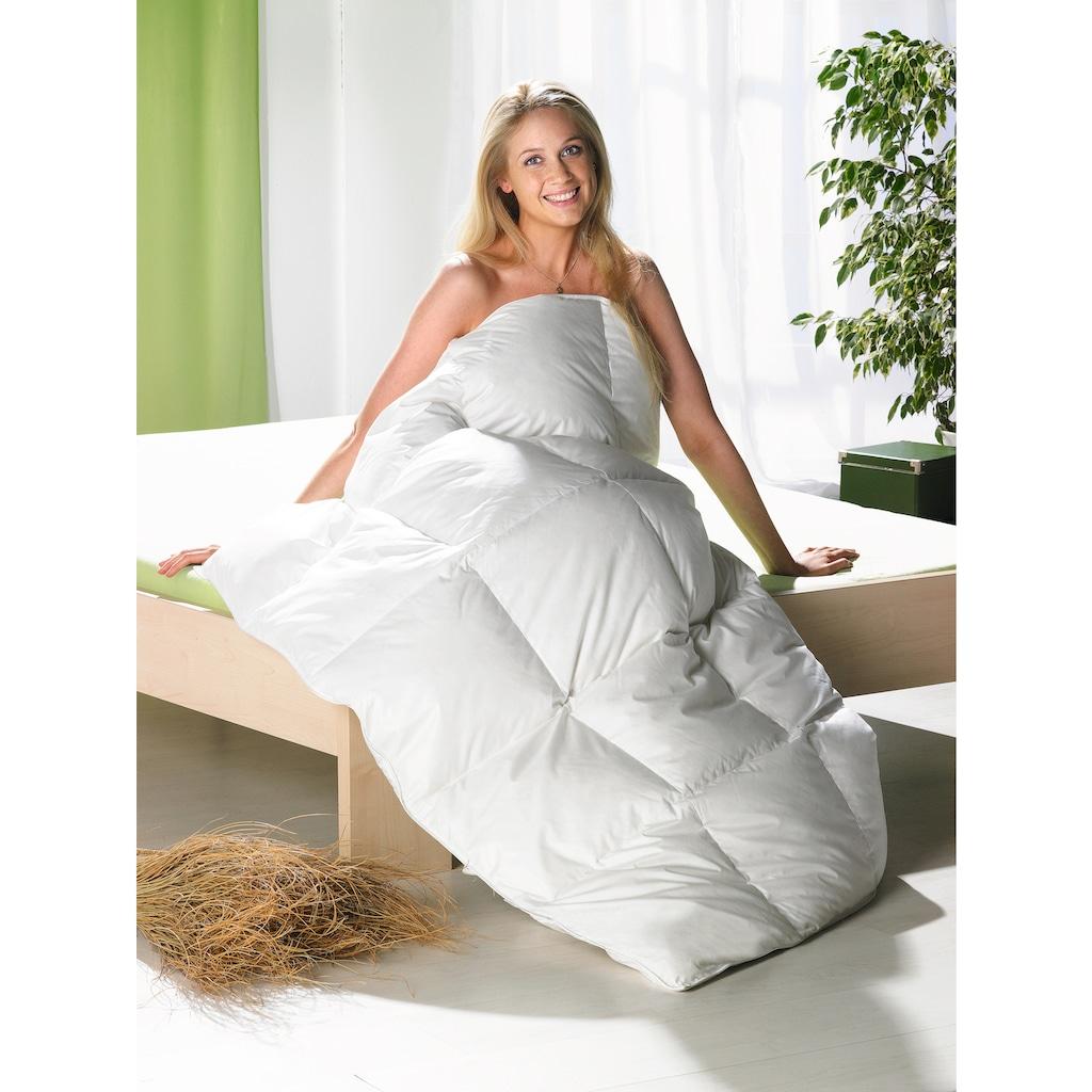 Balette Daunenbettdecke »Leichtes Ganzjahresduvet Dreams«, leicht, Füllung neue reine Entendaune 90%, weiss, Bezug 100% Baumwolle, (1 St.)