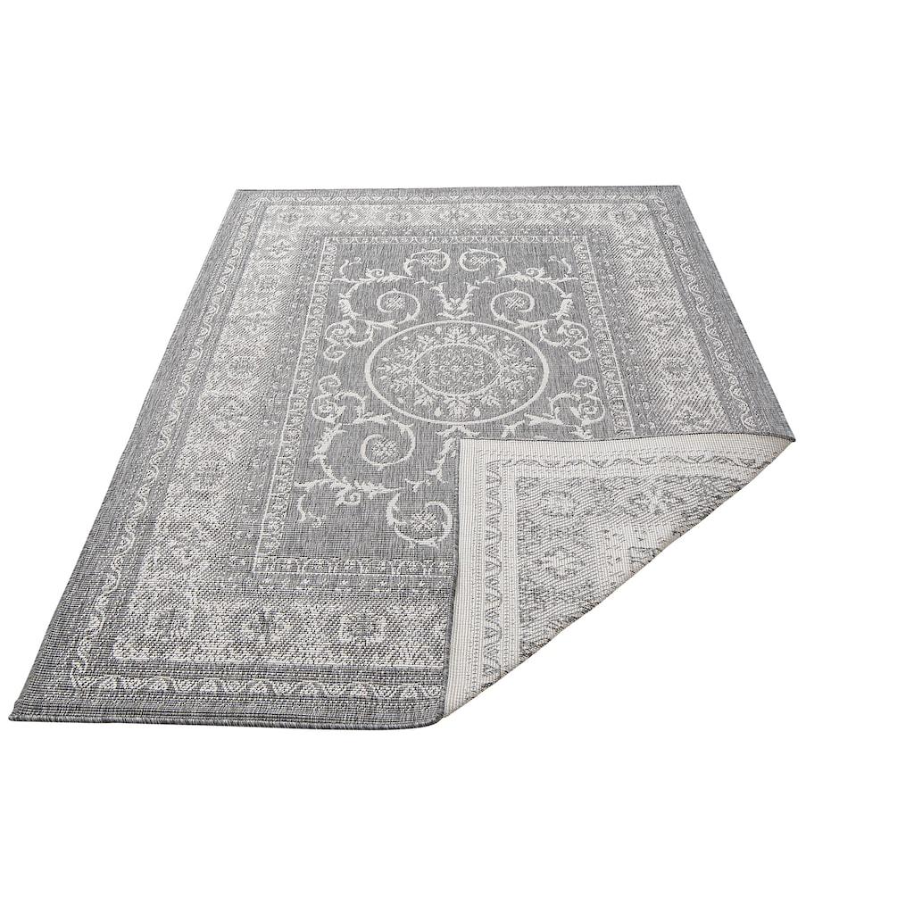 my home Teppich »Sanem«, rechteckig, 5 mm Höhe, In- und Outdoor geeignet, Wendeteppich, Wohnzimmer