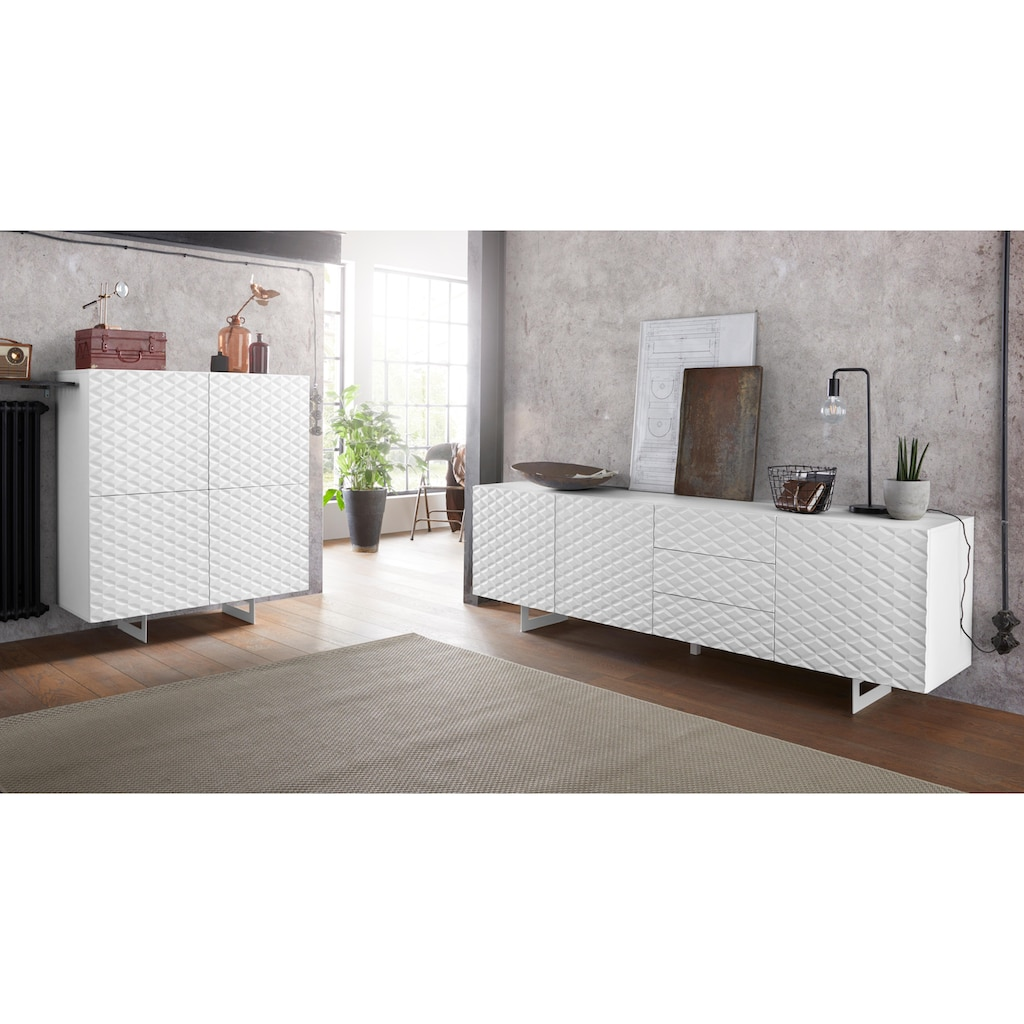 DIVENTA Sideboard »KORFU«, Breite 220 cm