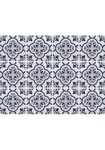 Home affaire Fliesenaufkleber »blaue Ornamente« (Set, 12 Stück) kaufen