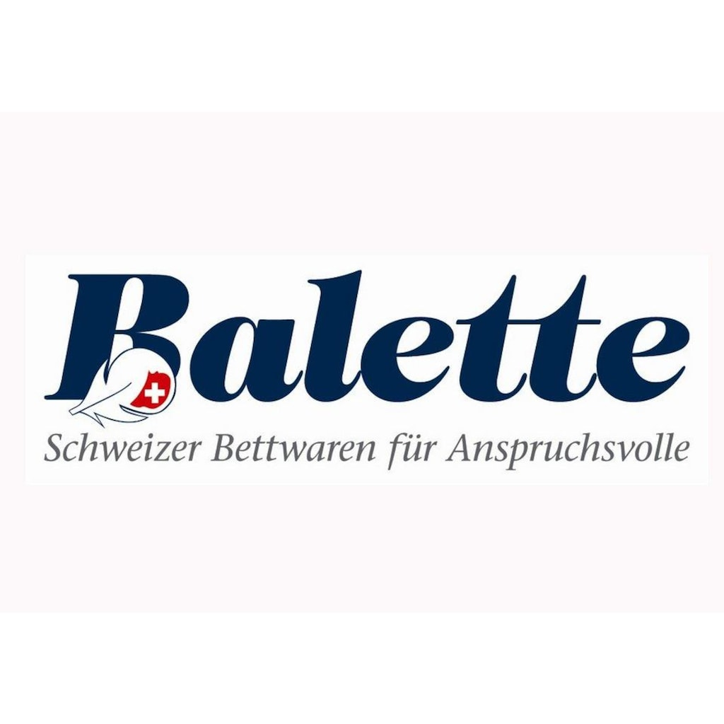 Balette Einziehdecke »Naturhaarduvet, Balette, »Merino-Schurwolle««, Füllung 100% Merino-Schurwolle, Bezug 100% Baumwolle, (1 St.)