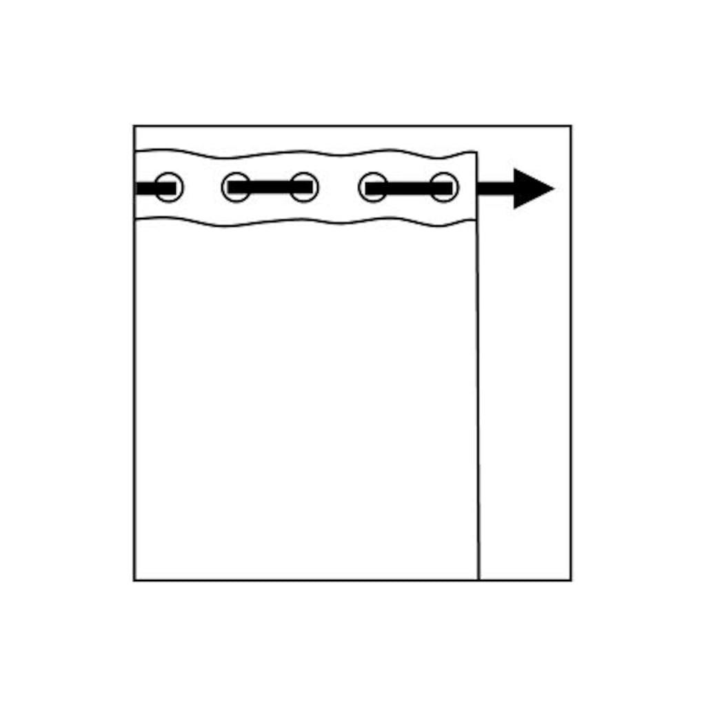 ELBERSDRUCKE Scheibengardine »Laola«, HxB: 48x140