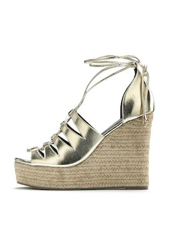 LASCANA High-Heel-Sandalette, mit Keilabsatz im Bast-Look kaufen
