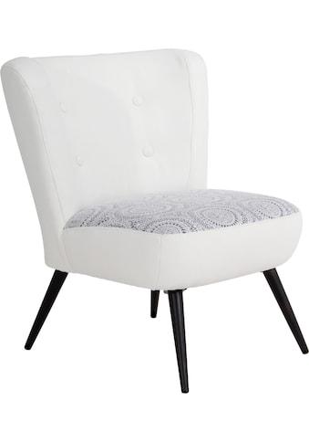 Max Winzer® Sessel »Nikki«, im Retrolook, mit zierlichem Häkelmuster kaufen