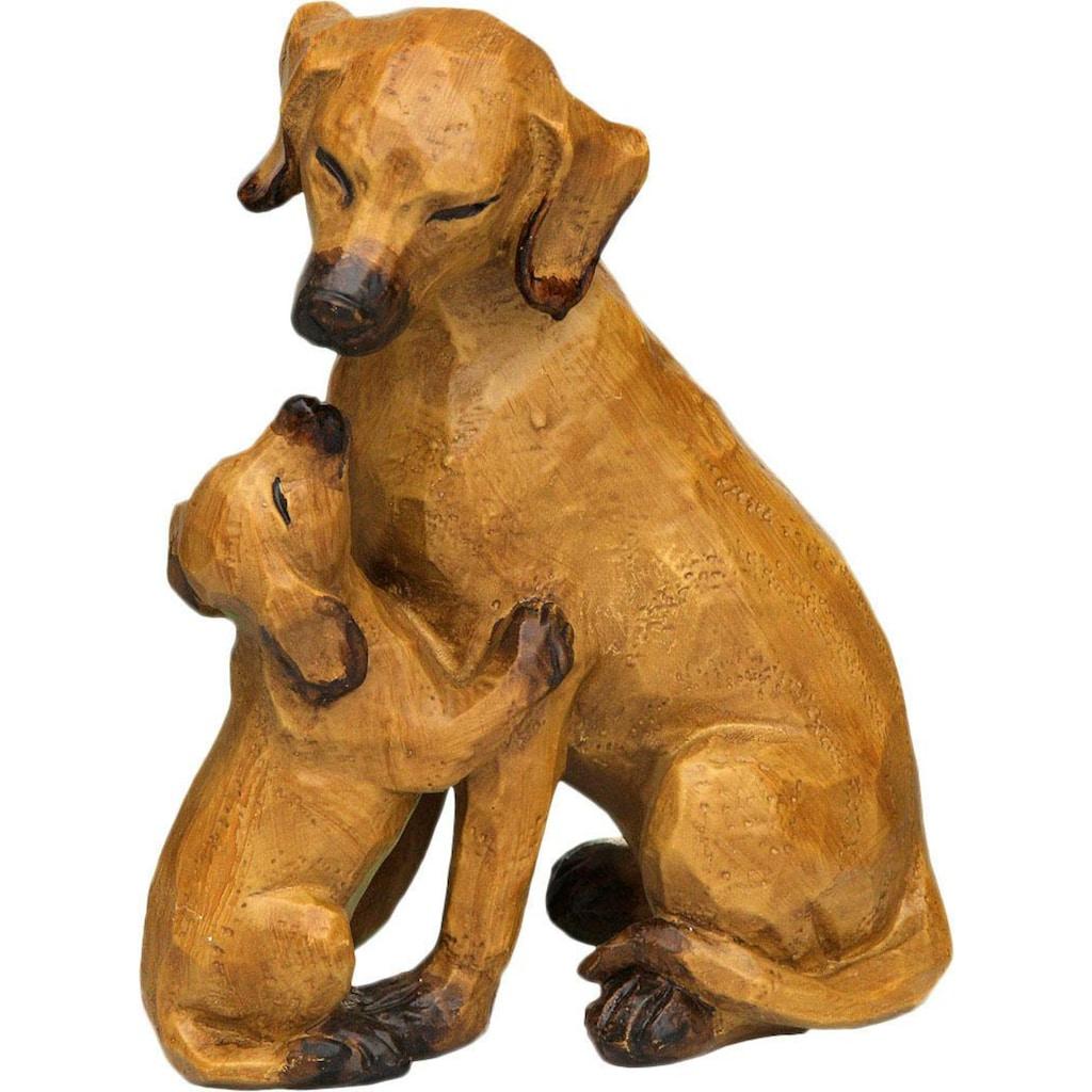 Ambiente Haus Dekofigur »Hund mit Welpe«, gross