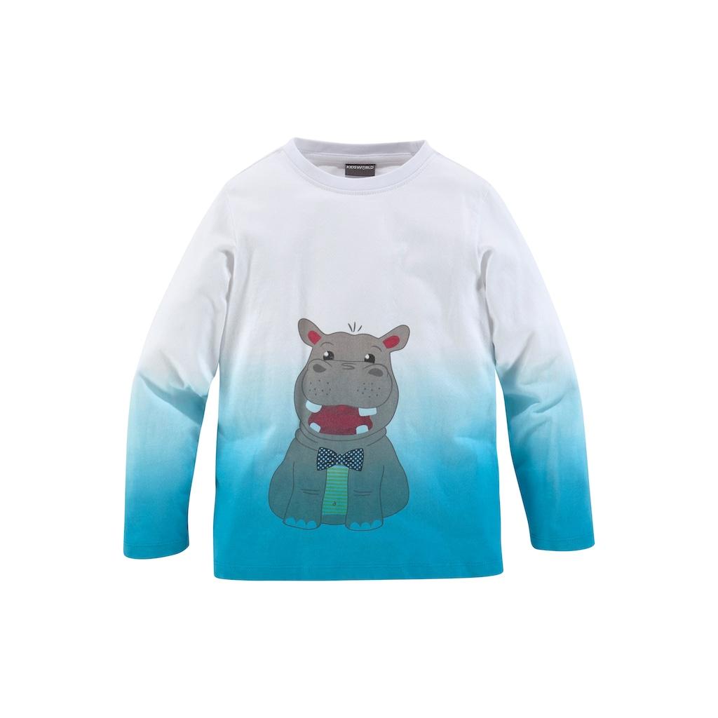 KIDSWORLD Langarmshirt »HIPPO«