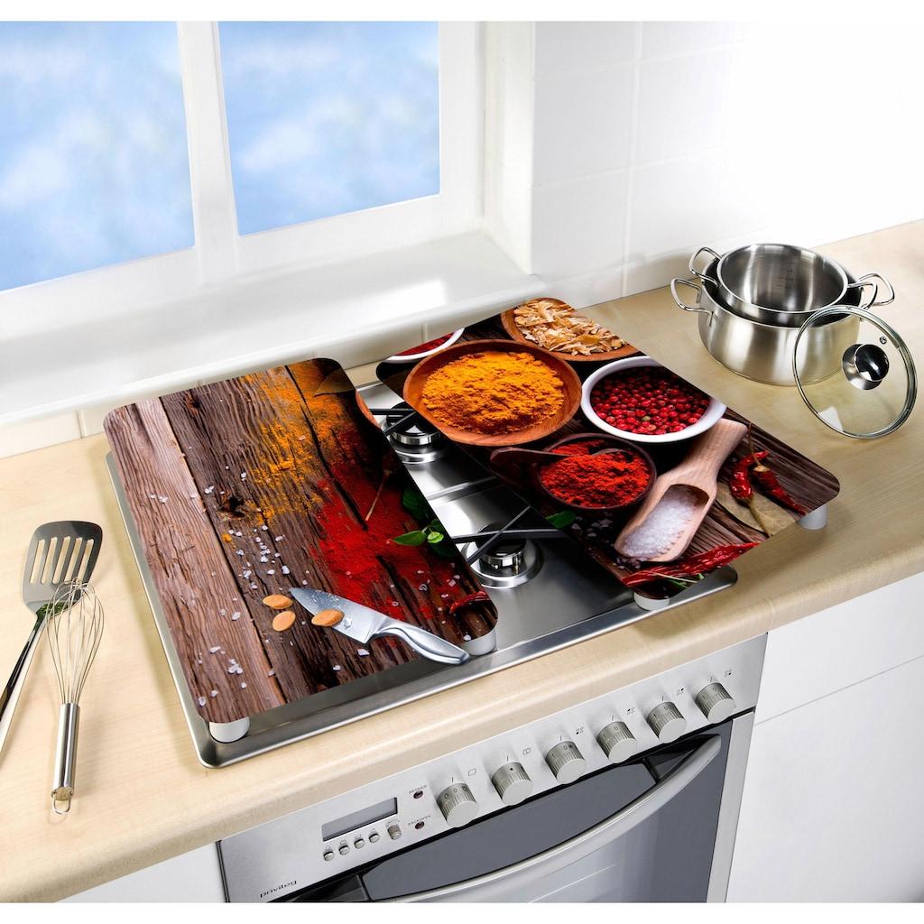 WENKO Herd-Abdeckplatte »Gewürze«, rutschfesten Spezialfüße, Maße je Platte: 40 x 52 cm