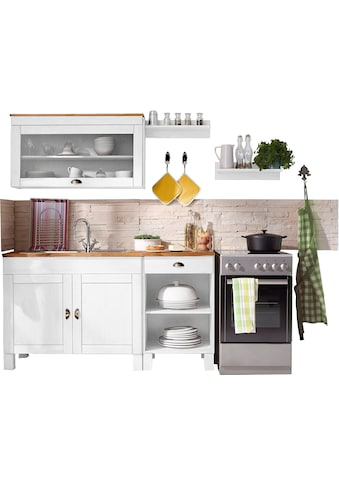 Home affaire Küchen-Set »Oslo«, (5 St.), ohne E-Geräte, Breite 150 cm, aus massiver... kaufen