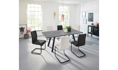INOSIGN Esszimmerstuhl »Maila«, 2er Set, mit einem pflegeleichten Kunstleder Bezug, mit einem Kufengestell aus Metall, Sitzhöhe 48 cm kaufen