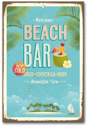 Home affaire Metallschild »Beach Bar«, Masse (B/H): ca. 30/45 cm kaufen