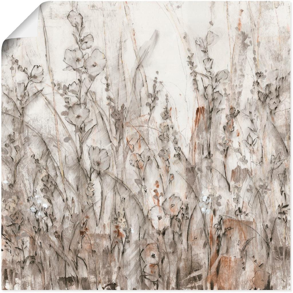 Artland Wandbild »Schatten II«, Blumenwiese, (1 St.), in vielen Grössen & Produktarten - Alubild / Outdoorbild für den Aussenbereich, Leinwandbild, Poster, Wandaufkleber / Wandtattoo auch für Badezimmer geeignet