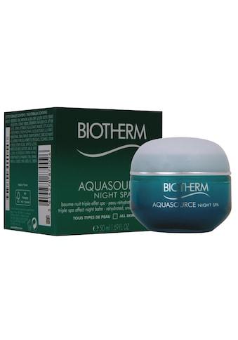 BIOTHERM Gesichtsgel »BAquasource Night 50 ml«, Premium Kosmetik kaufen
