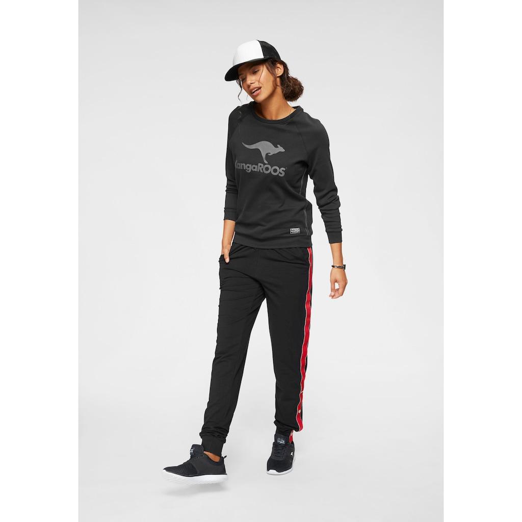 KangaROOS Sweater, mit grossem Label-Print vorne