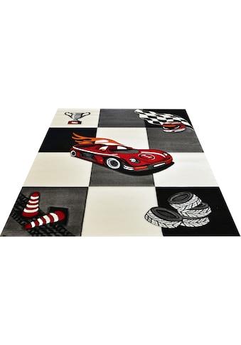 merinos Kinderteppich »Diamond Kids21833«, rechteckig, 13 mm Höhe, Rennwagen, Autos, Kurzflor kaufen