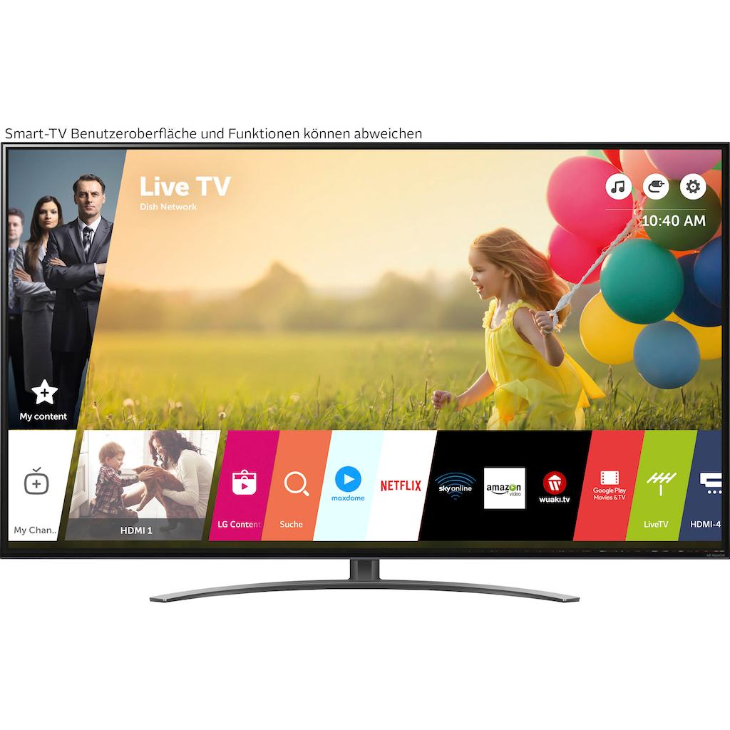 "LG LCD-LED Fernseher »75NANO919PA«, 189 cm/75 "", 4K Ultra HD, Smart-TV, (bis zu 120Hz)-Full Array Dimming-α7 Gen4 4K AI-Prozessor-Sprachassistenten-HDMI 2.1"