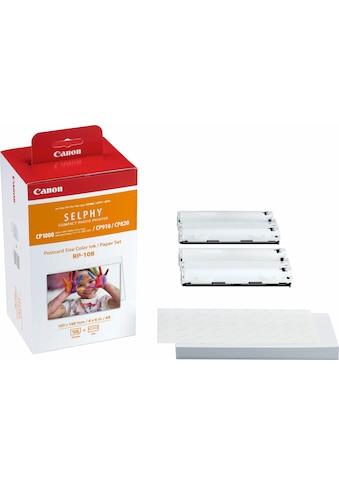 Canon Nachfülltinte »RP-108 und Papier-Set (108 Stck.)«, für Canon SELPHY CP1000, CP1200, CP1200 Battery Pack Bundle, CP1200 Card Print Kit, CP910, CP910 Printing Kit, (Set) kaufen