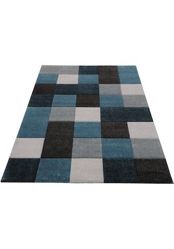 merinos Teppich »DRONNE«, rechteckig, 13 mm Höhe, handgearbeiteter Konturenschnitt, Wohnzimmer kaufen