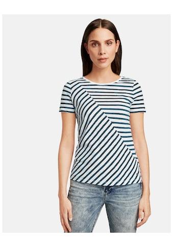 Taifun T - Shirt Kurzarm Rundhals »Shirt mit Streifen - Dessin organic cotton« kaufen