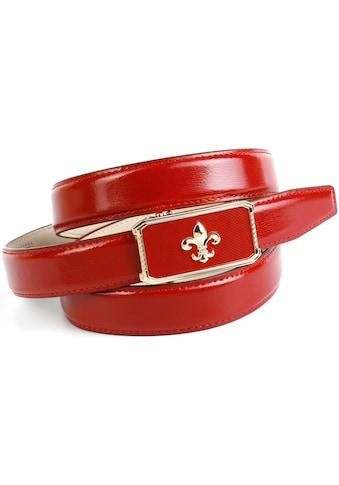 Anthoni Crown Ledergürtel, mit eleganter Schliesse, Gürtel in Glanzoptik kaufen