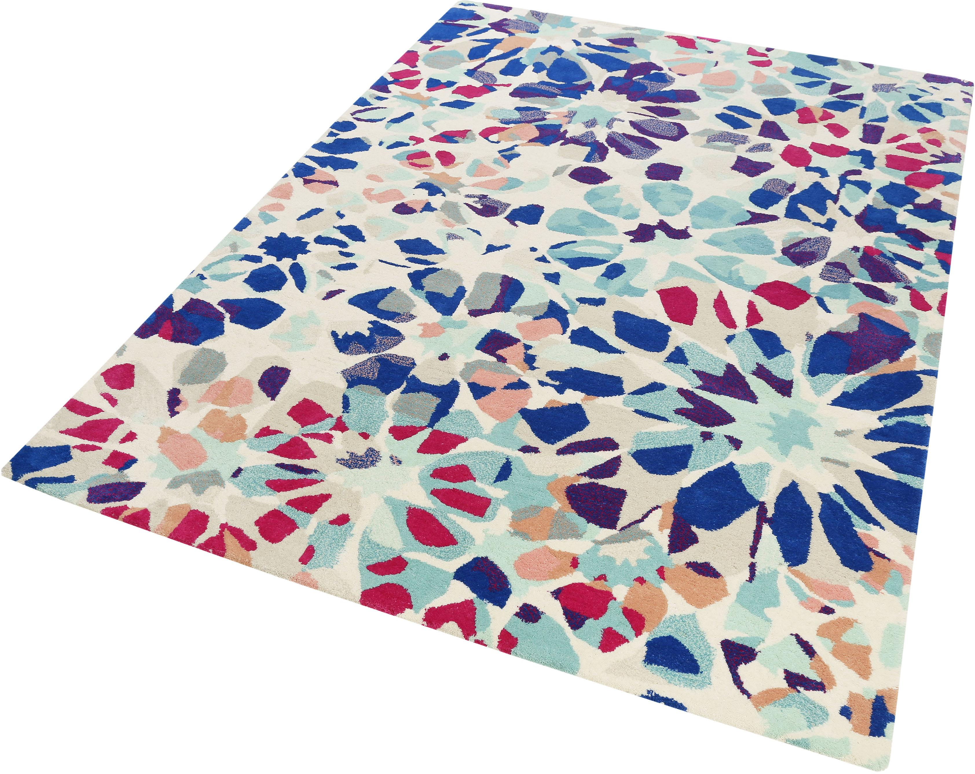 Image of Wollteppich, »Kaleidoscopes«, Accessorize Home, rechteckig, Höhe 16 mm, handgetuftet