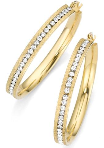 Firetti Paar Creolen »goldfarben, strukturiert« kaufen