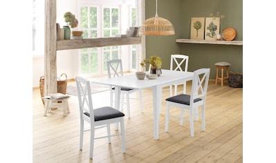 Home affaire Essgruppe »Olvera«, (Set, 5 tlg.), bestehend aus Fullerton Esstisch 120 cm, 4 Sonoma Esszimmerstühlen und 1 Ansteckplatte (5-tlg.) kaufen
