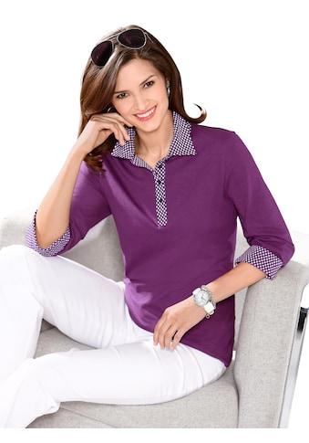 Classic Basics Poloshirt mit Sternchen - Muster bedruckt kaufen