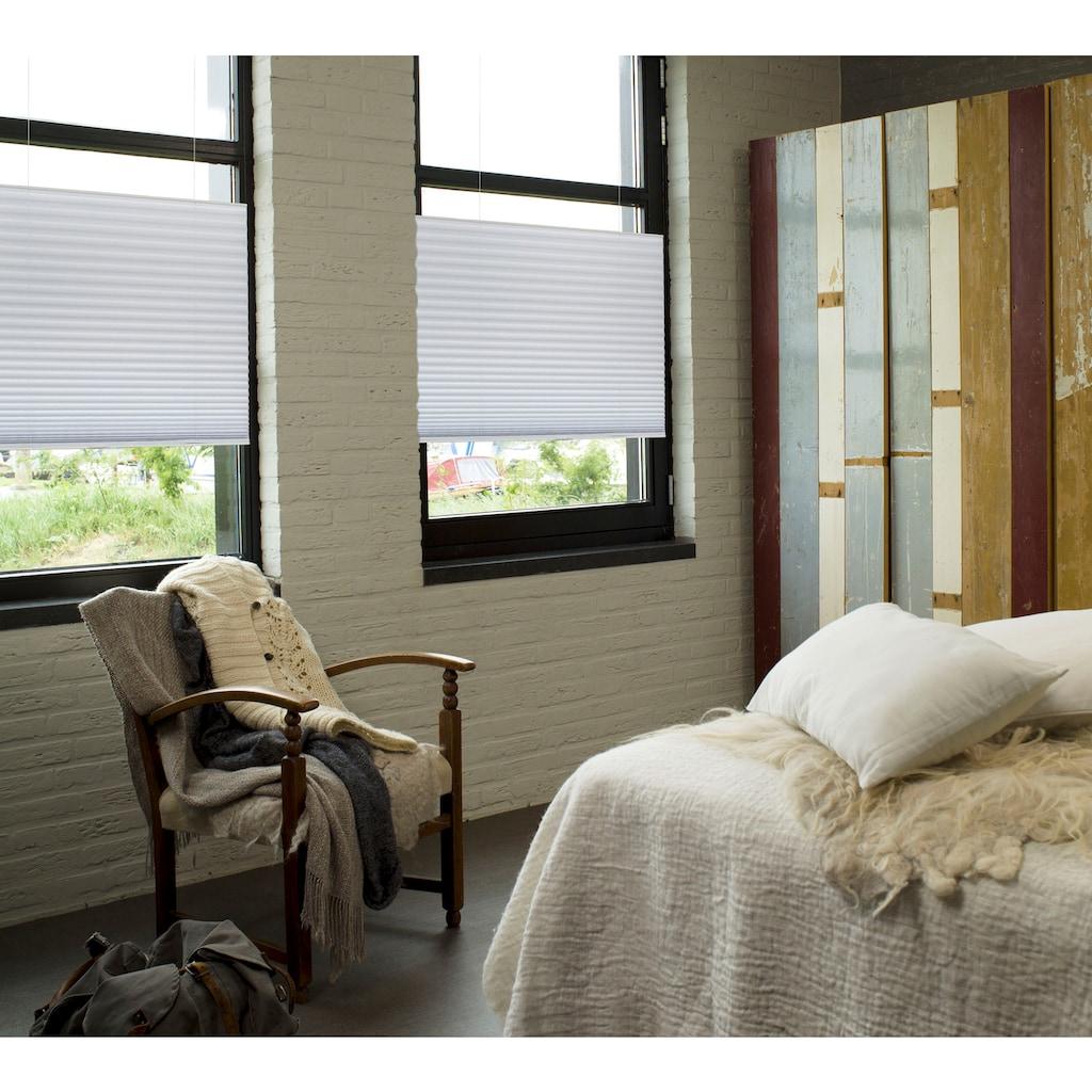 GARESA Plissee »Plissee«, Lichtschutz, energiesparend, freihängend, Lichteifall am Fenster perfekt steuern.