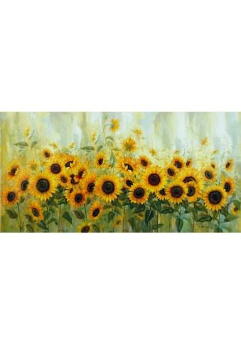 Home affaire Leinwandbild »Prieur: Sonnenblumenwiese« kaufen