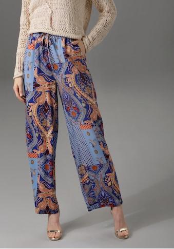 Aniston CASUAL Schlupfhose, mit trendigem Patch-Druck kaufen