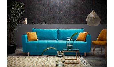 INOSIGN Schlafsofa »Nordic metallic«, mit Federkern und Metallbeinen, Steppung im Sitzbereich kaufen