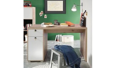 Begabino Schreibtisch »Leni«, mit Seilgriffen, im modernen Dekor Old Style hell kaufen
