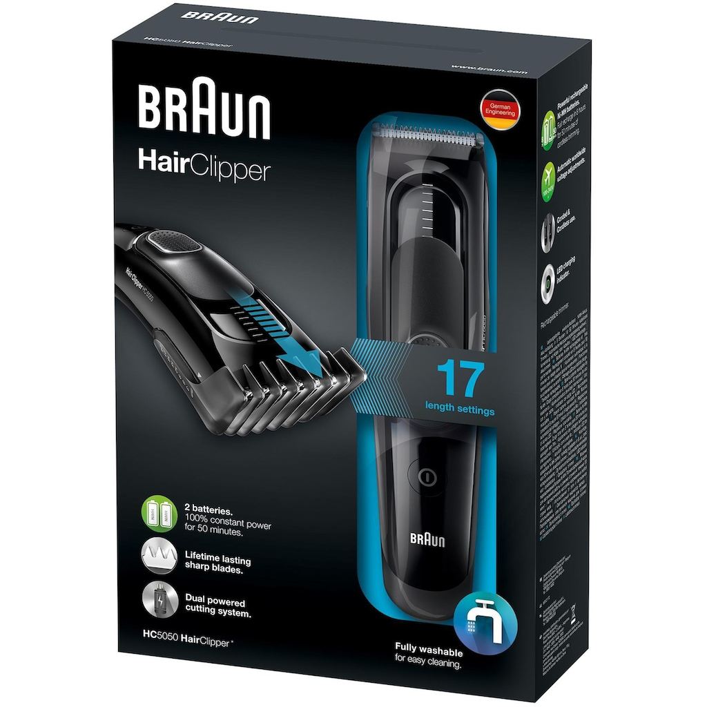 Braun Haar- und Bartschneider »HC5050«, 2 Aufsätze, ultimatives Haarschneiden, Erlebnis von Braun in 17 Längen