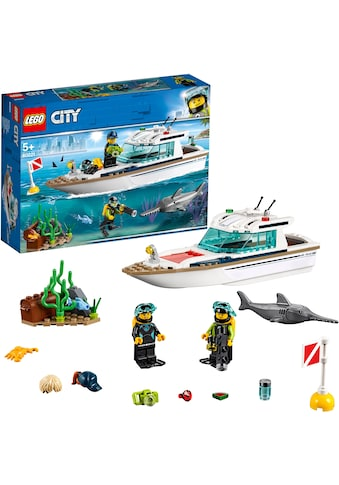 LEGO® Konstruktionsspielsteine »Tauchyacht (60221), LEGO® City«, (148 St.), Made in Europe kaufen
