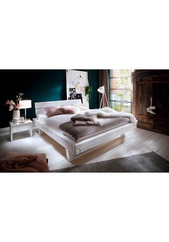 Premium collection by Home affaire Massivholzbett »Ultima«, aus massivem Holz in Balken-Optik, in unterschiedlichen Bettbreiten und Holzfarben kaufen