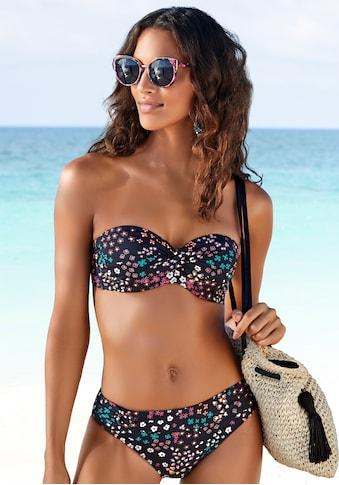 s.Oliver Bügel-Bandeau-Bikini-Top »Milly«, mit Blumenprint kaufen