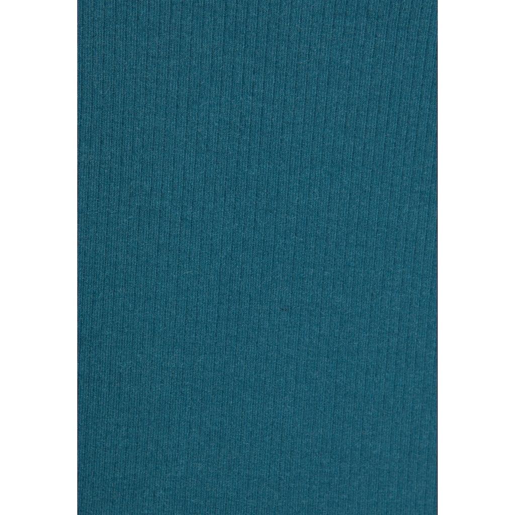 s.Oliver Bodywear Langarmshirt, aus geripptem Stoff mit Knopfleiste
